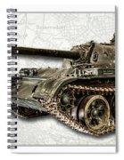 T-54 Soviet Tank W-bg Spiral Notebook