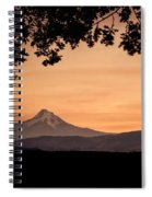 Mt. Hood At Sunset Spiral Notebook