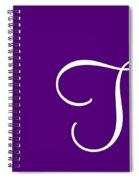 T In White Simple Script Spiral Notebook