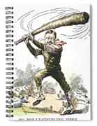 T. Roosevelt Cartoon, 1904 Spiral Notebook