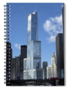 T Tower Chicago River Spiral Notebook