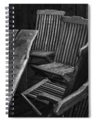 Table And Chairs Husavik Iceland 3767 Spiral Notebook