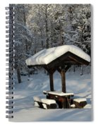 Table By Cross Country Ski Tracks Spiral Notebook