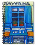 Table For Two In Greece Spiral Notebook