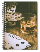 Table Games And The Wild West Saloon  Spiral Notebook