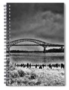 Tacony Palmyra Bridge In B And W Spiral Notebook