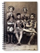 Tahiti: Men, C1890 Spiral Notebook