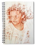 Tahitian Girl Spiral Notebook