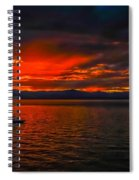 Tahoe Boat Ride Spiral Notebook