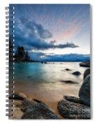 Tahoe Bursting Clouds Spiral Notebook