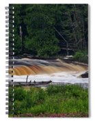 Tahquamenon Lower Falls Upper Peninsula Michigan 04 Spiral Notebook