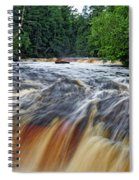 Tahquamenon Lower Falls Upper Peninsula Michigan Vertical 01 Spiral Notebook
