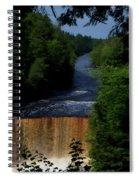 Tahquamenon Lower Falls Upper Peninsula Michigan Vertical 07 Spiral Notebook