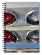 Tail Lights Of A 1966 Chevrolet Corvette Sting Ray 427 Turbo-jet Spiral Notebook