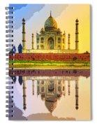 Taj Mahal At Sunrise Spiral Notebook