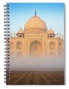 Taj Mahal In The Mist Spiral Notebook