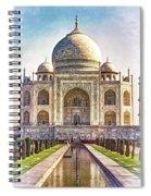 Taj Mahal - Paint Spiral Notebook