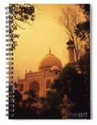 Taj Mahal Sunset Spiral Notebook