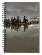 Talbot Lake Stormy Panorama Spiral Notebook