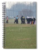 Talking After The Volleyball Game Spiral Notebook