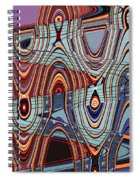 Tall Building Showing Colors Spiral Notebook