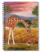 Tall Love From Above Spiral Notebook