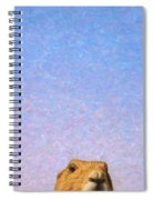 Tall Prairie Dog Spiral Notebook
