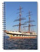 Tall Ship Anchored Off Penzance Spiral Notebook