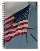 Tall Ship Flag I Spiral Notebook