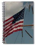 Tall Ship Flag IIi Spiral Notebook