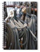Tall Ship Lines Vi Spiral Notebook
