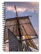 Tall Ship Sails 6 Spiral Notebook