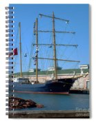 Tall Ship Waiting Spiral Notebook