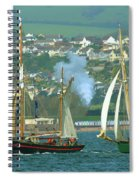 Tall Ships And Steam Trains Spiral Notebook