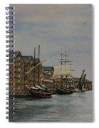 Tall Ships At Gloucester Docks Spiral Notebook