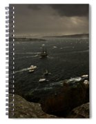 Tall Ships Heavy Rain And Wind In Sydney Harbour Spiral Notebook