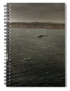 Tall Ships In The Entrance Of Sydney Harbour Spiral Notebook