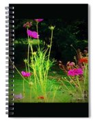 Tall Wispy Flowers In Pink Spiral Notebook