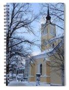 Tallin Church In Winter Spiral Notebook