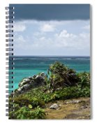 Talum Ruins Mexico Ocean View Spiral Notebook
