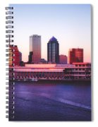Tampa At Sunset Spiral Notebook