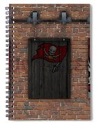 Tampa Bay Buccaneers Brick Wall Spiral Notebook