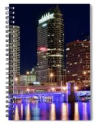 Tampa Bay Pano Lights Spiral Notebook