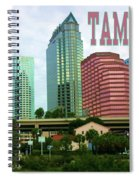 Tampa From The River Tote Spiral Notebook