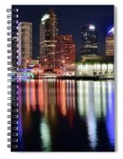 Tampa In Vivid Radiant Color Spiral Notebook