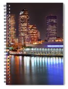 Tampa Skyline At Night Early Evening Spiral Notebook
