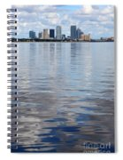 Tampa Skyline Over The Bay Spiral Notebook