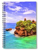 Tanah Lot Temple Bali Spiral Notebook