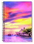 Tanah Lot Temple Sunset Bali Spiral Notebook