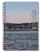 Tanana River With Pipeline - Early Morning Spiral Notebook
